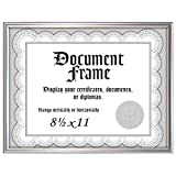 Malden International Designs Home Profiles Metro Silver Document Frame, 8.5x11, Silver