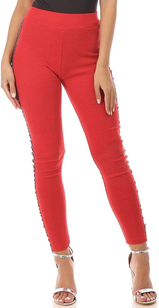 La Modeuse - Mallas de algodón de talla alta rojo Large/X-Large ...