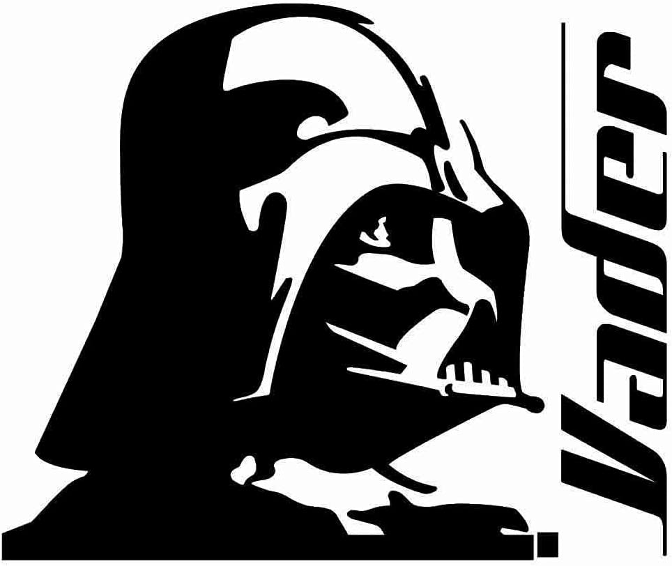 "Darth Vader Profile - Vinyl - 5"" tall (Color BLACK) decal laptop tablet skateboard car windows stickers"