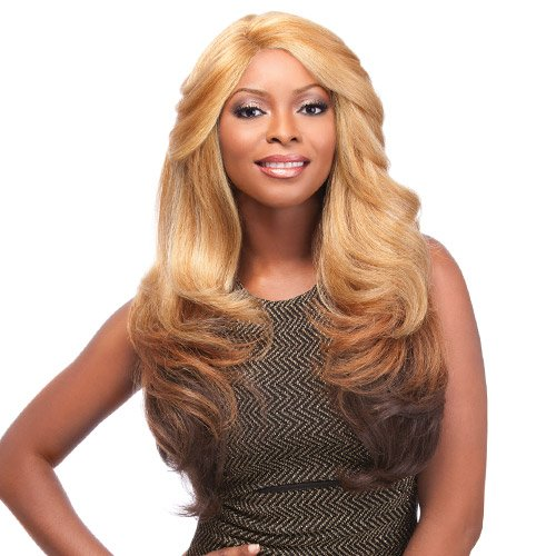 ​Sensationnel Synthetic Lace Front Wig Empress Edge Natural Curved Part Shakira - Style Shakira