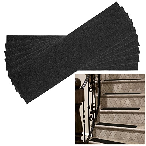"""6 Pack Non-Slip 24"""" x 6"""" Step Safety Treads Grip Tape forSkateboardStrips and Stairs Safety Adhesive Stair Treads for Kids, Elders and Pets, Prevents Slipping by DG Home Goods (Image #1)"""
