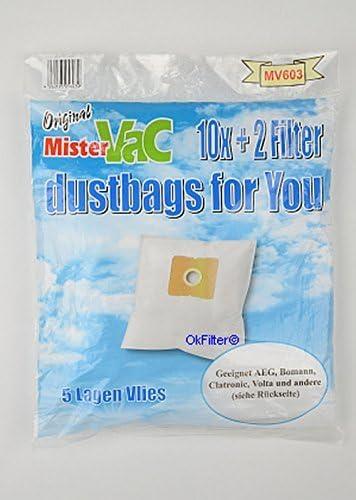 10 Sacchetto per aspirapolvere per superior cb-719 2 FILTRO Sacchetto per la Polvere Filtro Sacchetti