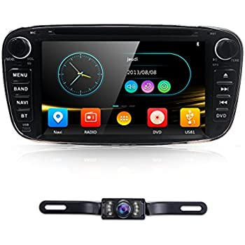 7 full touch screen ford focus car dvd cd player gps 2 din stereo gps navigation. Black Bedroom Furniture Sets. Home Design Ideas