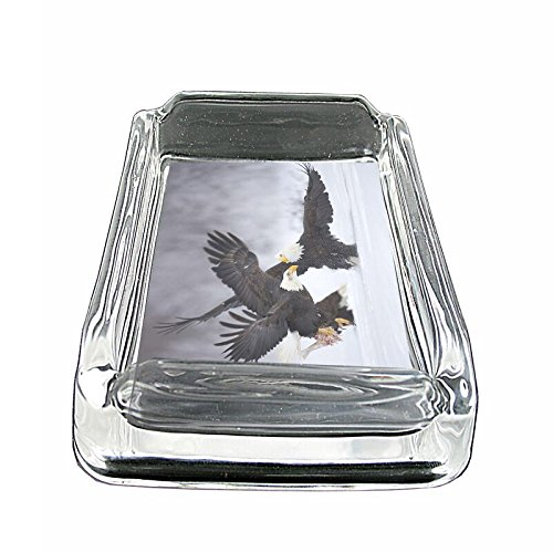 (Eagle Snow Fight Em1 Glass Ashtray Smoking/Coin Holder 4