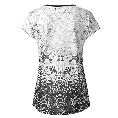 TANLNAG Women Floral Vests Summer Tops Short Sleeve Denim Shirt Political Midi Blouse Fashion T Shirt Band Shirts Gray