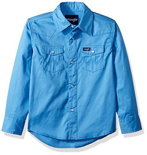 Wrangler Boys' Western Solid Snap Shirt, blue, L for sale  Delivered anywhere in USA