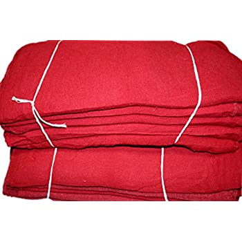 Image of Car Care Atlas Towels Red Shop Towels - (Box of 1000) - Size 13 x 13 Inches - Commercial Grade - Reusable, Washable, 100% Cotton Cleaning Cloths - Perfect Rags for Mechanic, Garage, Shops and Bar Mop