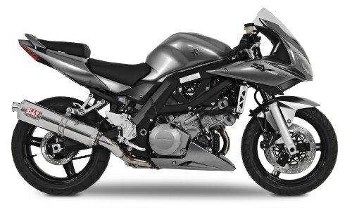 Yoshimura TRS Dual Tri-Oval Stainless Steel Street Bike Bolt On Exhaust System - Suzuki SV1000/S 2004-2007