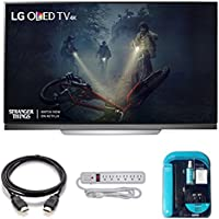 Electronics OLED55E7P 55-inch 4K Ultra HD Smart TV (2017 Model) Bundle HDMI 2.0 Cable, Surge Protector, Cleaning Kit