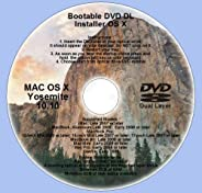 Bootable DVD DL, Mac OS X 10.10 Yosemite Full OS Install, Reinstall, Recovery and Upgrade