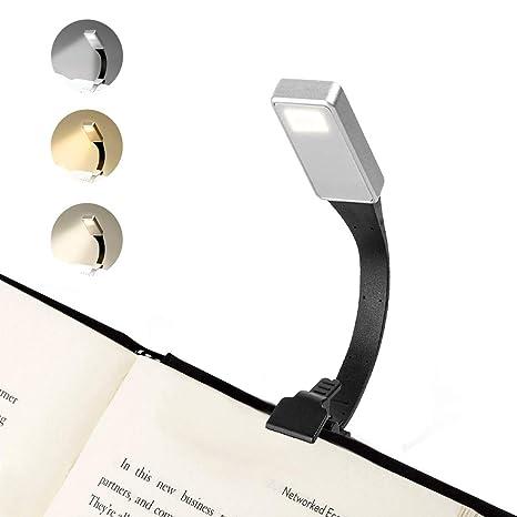 Amazon.com: Luz LED de lectura, clip portátil, luz de libro ...