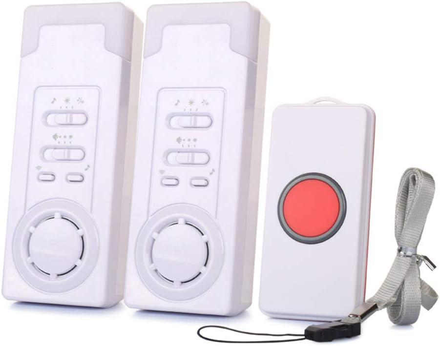 Herewegoo Sistema de Alarma de Alerta al Paciente de Seguridad en el hogar Botón de Llamada de Emergencia con Alarma inalámbrica para niños Mayores