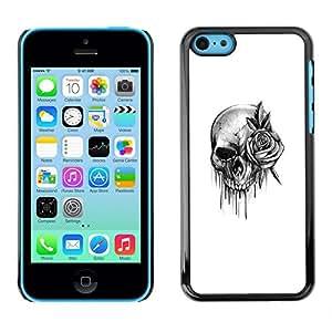 SKCASE Center / Funda Carcasa - Rollo de la roca de la Muerte de tinta metal;;;;;;;; - iPhone 5C