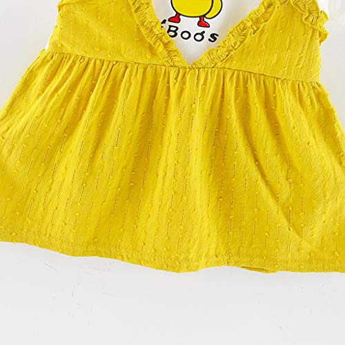 0 Corta Bebé Fiesta Para vestido Manga 24 Vestido Verano Nacidos Bautizo Cuadros Bebe 2019 Meses Recién Paolian Amarillo a Tirantes Rayas Conjuntos Peto Princesa Niña RwtqwTX