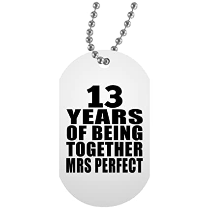 Amazon Anniversary Dog Tag 13 Years Of Being Together Mrs