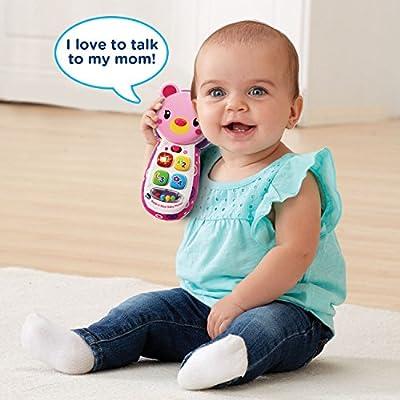 VTech Baby Peek-a-Bear Baby Phone, Pink: Toys & Games
