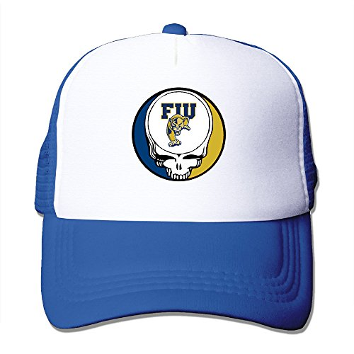 CCbros Florida International University - Greatful Dead Running Mesh Back Hat Cap One Size Fit All RoyalBlue ()