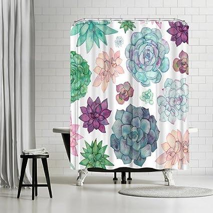Americanflat Succulent Garden Shower Curtain By Elena Oneill 74quot X 71quot
