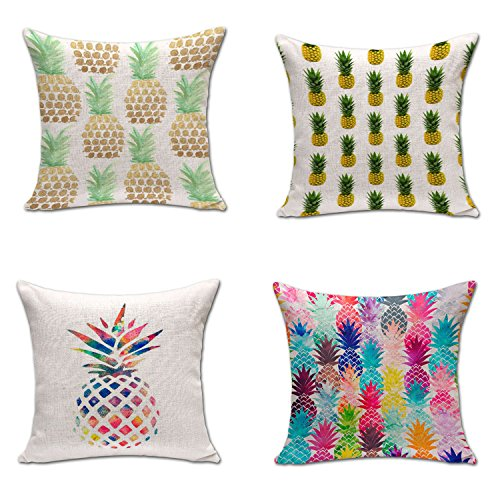 Uther Set of 4 Cotton Line Decorative Square Throw Pillow Co