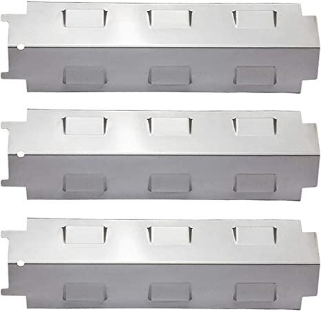 LOKHING 98531 (Paquete de 3) Placa calefactora de Acero Inoxidable, Barra aromatizante de Repuesto para Campingaz, Landmann, Char-Broil y Otros ...