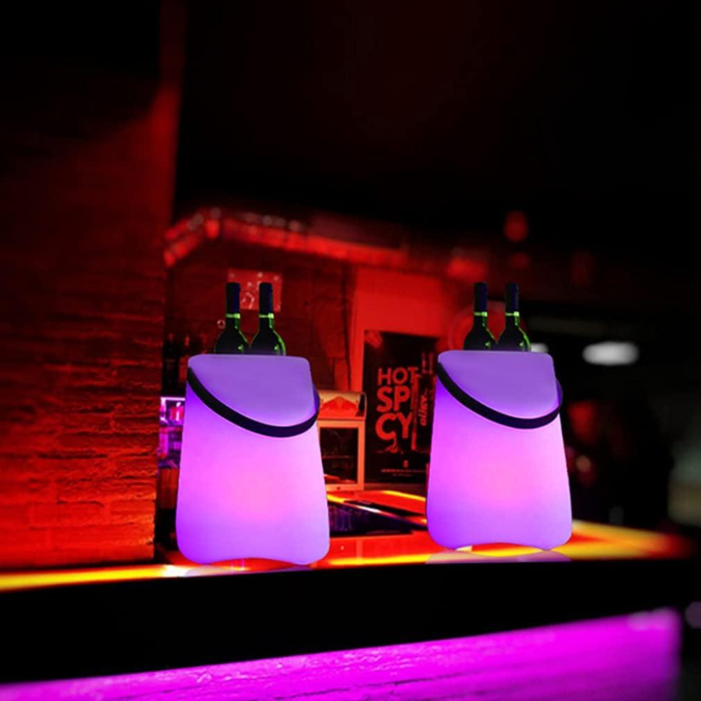 Oceanindw Creative Colorful BT Ice Bucket Altavoz portátil, luz LED de Degradado de 7 Colores, Sonido Envolvente estéreo de 360 °, subwoofer, para Fiestas, Exteriores, Picnic, reuniones