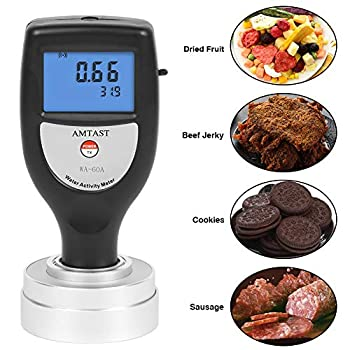Image of AMTAST Water Activity Meter Smart Food Water Activity Tester for Food Jerky Dried Fruit Grain Vegetable AW Monitor Home Improvements