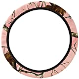 Mossy Oak Pink Camo Print Car Truck SUV Neoprene Steering Wheel Cover