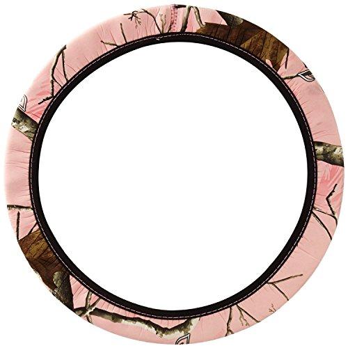 Mossy Oak Pink Camo Print Car Truck SUV Neoprene Steering Wheel Cover (Camo Pink Steering Wheel Cover compare prices)