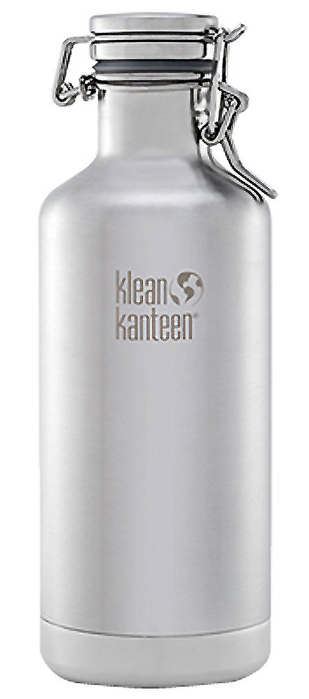 Klean Kanteen Classic Growlers Vacuum Insulated Trinkflasche, Brushed Stainless, One Größe
