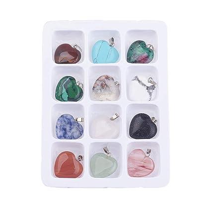Amazon.com: ARRICRAFT 5 cajas de 60 colgantes de piedra ...