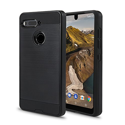 Price comparison product image Essential Phone PH-1 Case, Slim Armor Hybrid Cover [Scratch/Dust Proof] Defender Dual Layer Shockproof Protection Case (VGC Black)