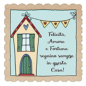 Enid18Bru The Angle of The Ideas - Placa de Madera de FELICITà, Love Y Fortuna
