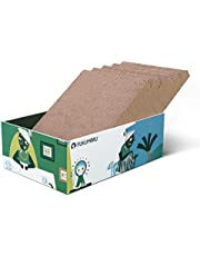 FUKUMARU Cat Scratcher Cardboard 5 PCS with Box, Reversible Cat Scratch Pad, Kitty Corrugated Scratching Bed