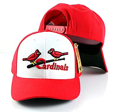 MLB American Needle Cooperstown Tradition Wool Adjustable Snapback Hat (St. Louis Cardinals)
