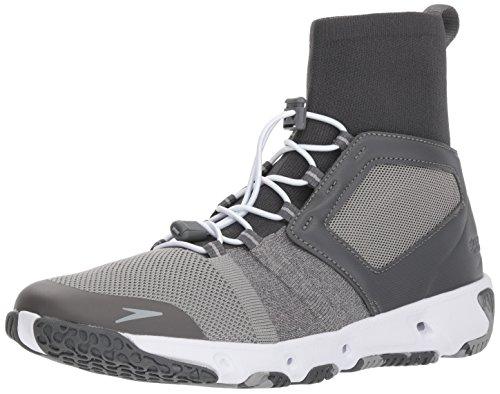 Grey Hybrid Water Shoes - Speedo Men's Hydroforce XT Fitness Water Shoes, dark heather grey, 13 C/D US