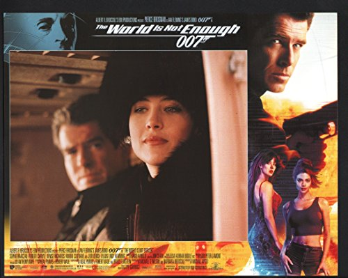 MOVIE POSTER: World is Not Enough Lobby Card-Pierce Brosnan and Sophie Marceau. (Enough Lobby Card)