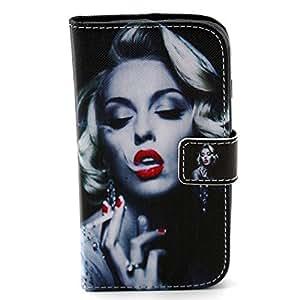 For Motorola Moto G Case,[GloryShop] Marilyn Monroe Graphic,Fashion Style Wallet Case Magnetic Design Flip Folio PU Leather Cover Case For Motorola Moto G