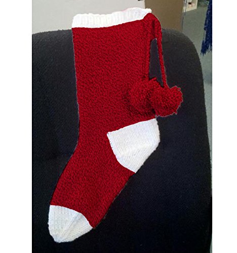 Easy Christmas Stocking Knit Kit with Encore Worsted Yarn – Red and White