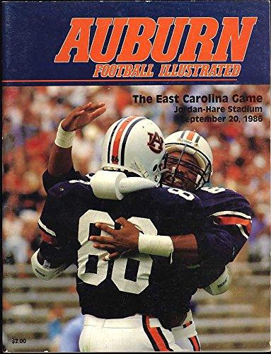 - Football Game Program Auburn University vs East Carolina Pirates - September 20, 1986 - Jordan Hare Stadium