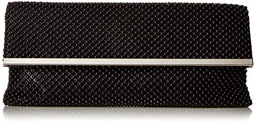 Jessica McClintock Kandi Ball Mesh Evening Clutch, Black (Mesh Clutch Sequin)