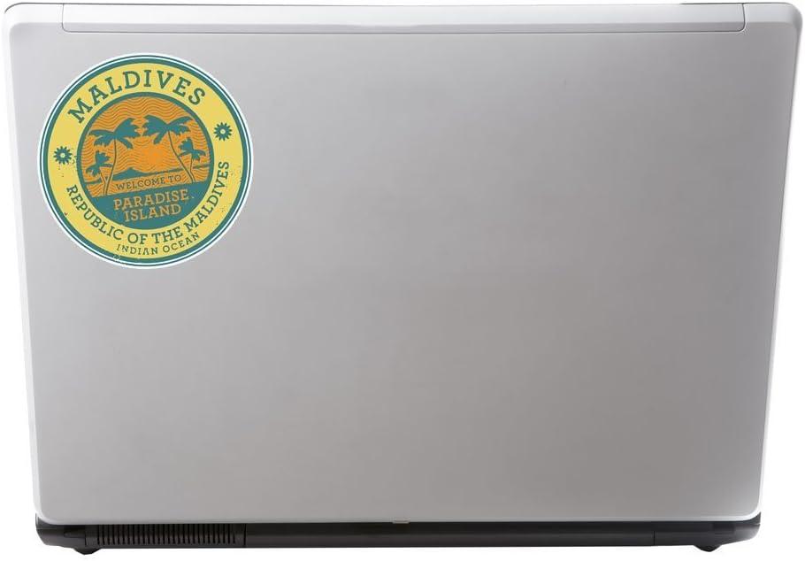 2/x Maldives Sticker en vinyle pour ordinateur portable Voyage Bagage Voiture Panneau iPad Fun # 6491-10cm//100mm Wide