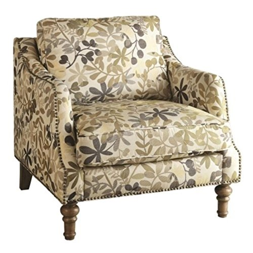 coaster home furnishings leaf pattern accent chair