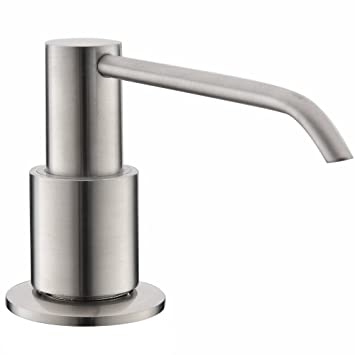 Modern Built In Lotion Stainless Steel Brushed Nickel Kitchen Countertop  Liquid Dish Sink Soap Dispenser Pump
