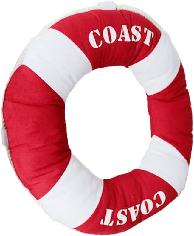 Yepmax Throw Pillows Canvas Buoy Decorative Pillows 15.7 Inch Red
