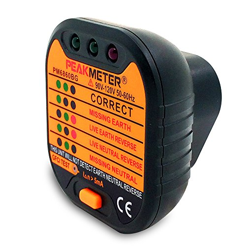 Protech PM6860BG Power Socket Outlet Tester Polarity Checker GFCI ...