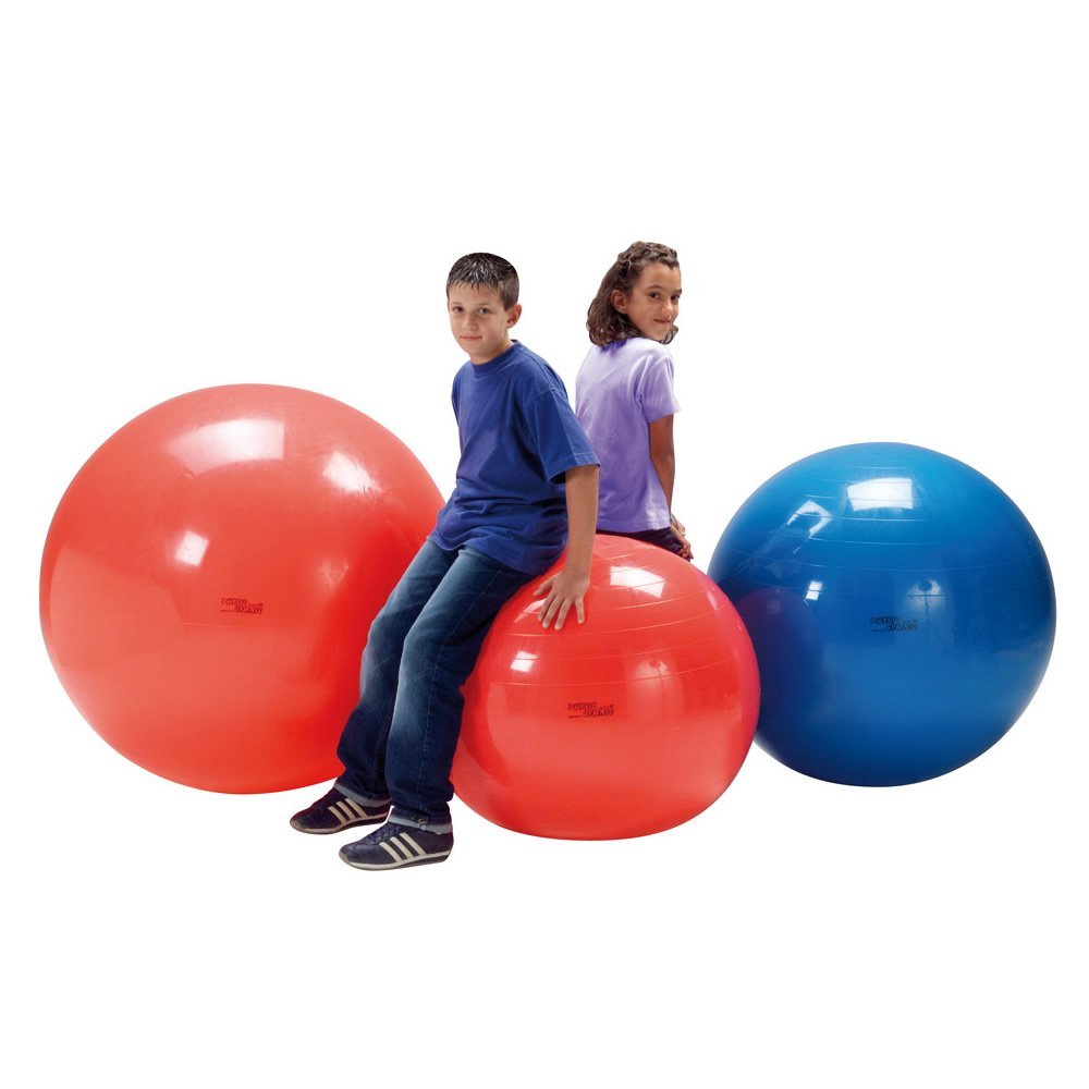 Gymnic Gymnastikball Fitnessball XXL - Physioball bis 120 kg - 120 cm - Ideal für Rehabilitation & Fitness Training - Sitzball in Rot - Optimal zur Verbesserung der Flexibilität, Körperhaltung & Balance - Im Sport & Alltag