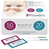 Ovulation Test Strips and Pregnancy Test Kit - 50 LH and 20 HCG - OPK Ovulation Predictor Kit iProven FK-127 (50 LH & 20 HCG)