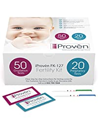 Ovulation Test Strips and Pregnancy Test Kit - 50 LH and 20 HCG - OPK Ovulation Predictor Kit iProven FK-127 (50 LH & 20 HCG) BOBEBE Online Baby Store From New York to Miami and Los Angeles