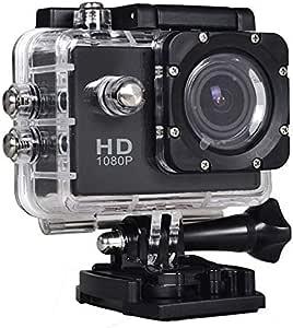 170 Degree Angle Lens Sports Camera 1080P, 1.5 Inch, Waterproof Cas, Black