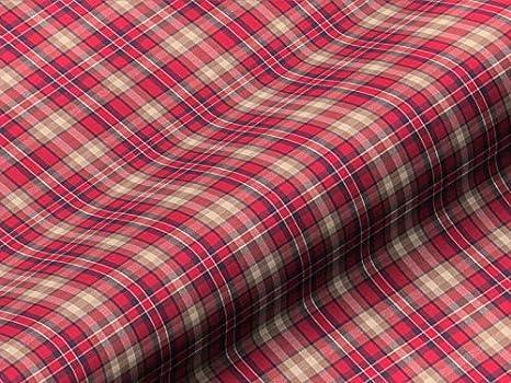 Tela de tapicería Chic patrón de cuadros color rojo como ...